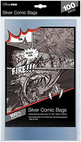 Ultra Pro 81976 Silver Size 100 H/üllen Comic Bags