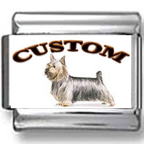 Silky Terrier Dog Custom Photo Italian Charm