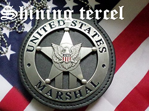 Shining Tercel - Obsolete Vintage Silver Five-pointed star 1789 U.S Marshal replica with pin back and Holder