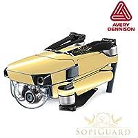 SopiGuard Avery Chrome Gold Precision Edge-to-Edge Coverage Vinyl Skin Controller Battery Wrap for DJI Mavic Pro