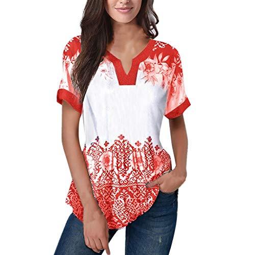 vermers Fashion Women Casual Plus Size Tops Cold Shoulder Applique T-Shirt Camis Tops Blouse(2XL, z2-Khaki)