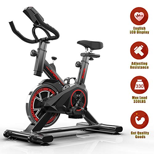 Indoor Cycling Spining Exercise Bike – Spin Bikes for Home Training with Flywheel, 7-Function Monitor, Heart Rate…