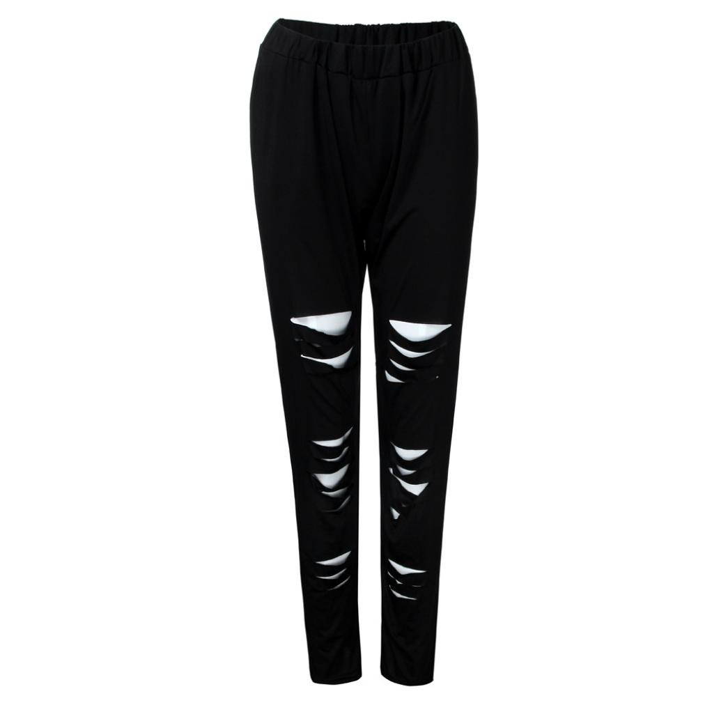 8eb051132647b Photno Pencil Pants Women Fashion Casual Sexy Leggings Mid Waist Ripped  Hole Pants Plus Size L-5XL at Amazon Women's Clothing store: