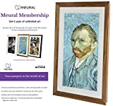 Meural Canvas - Smart Digital Frame | Digital Art Display | Winslow Walnut | 27 inch HD Display withWiFi | Includes One-Year Membership Subscription to Art Library | Powered by NETGEAR (MC227BL)