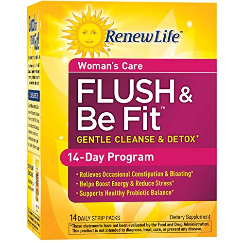 Comprehensive Cleansing Program Kit - Renew Life Flush & Be Fit - 14-Day Program, 14 Packs