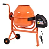 Steel Portable Electric Concrete Cement Mixer w/ 5.5'' Wheels
