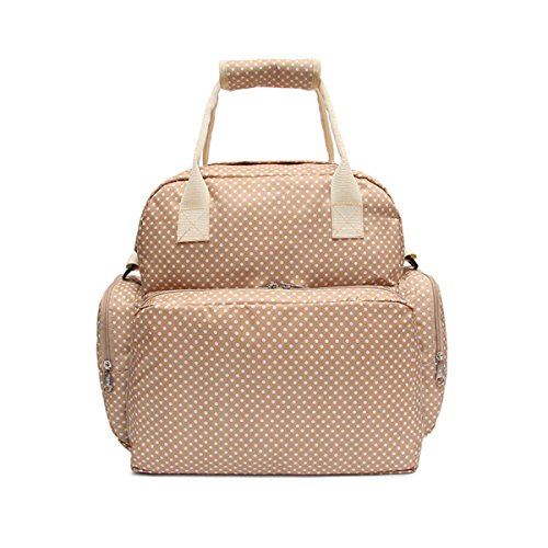Baby Bag Diaper Maternity for Mom Nappy Mother Tote Bag-Beige - 8