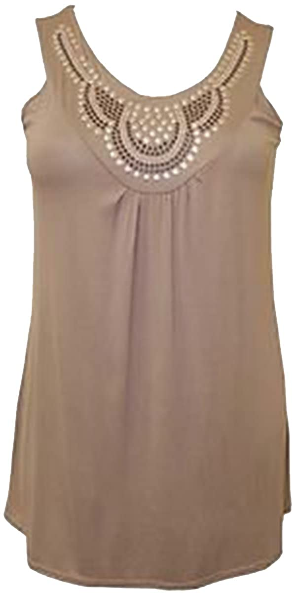 505045691d7 Xclusive Collection Ladies Plus Size Sequin Stud Detail Beaded Design Evening  Tunic Tops: Amazon.co.uk: Clothing