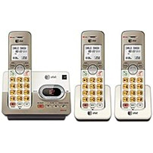 AT&T EL52333 DECT 6.0 Cordless Phone - 3 Handset Answering System - White, Grey consumer electronics -