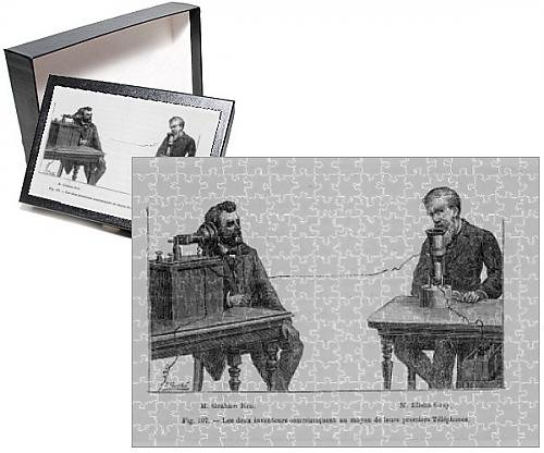 Photo Jigsaw Puzzle Of Telephone/bell a Gray - Alexander Graham Bell Elisha Gray