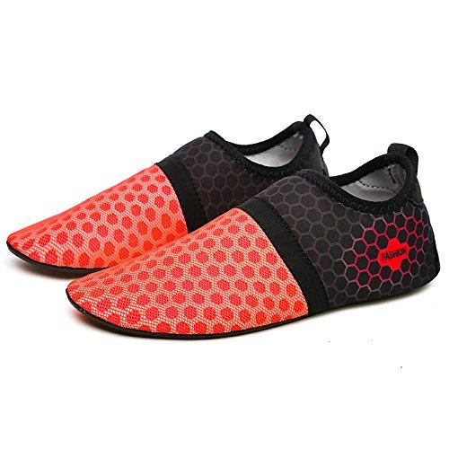zapatos Lucdespo playa rápido Transpirable snorkeling zapatos zapatos secado playa mujer los de super de de Gules calzado zapatos natación verano parejas de de calzado elastic cueva de rT4wr