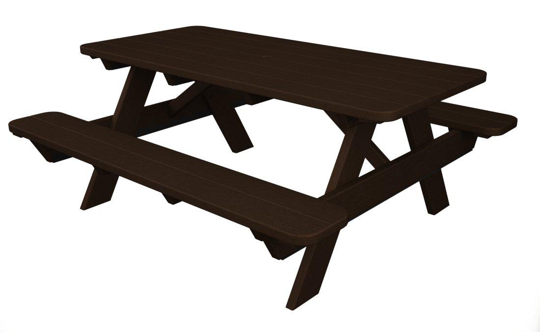 Amazoncom POLYWOOD PTMA Park Picnic Table Mahogany - Polywood park picnic table