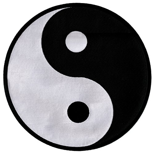 (Large Yin Yang Embroidered Patch Iron-On Chinese Taoism Symbol)