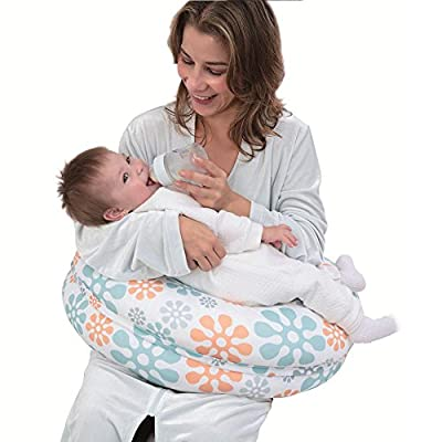 i-baby 4 In 1 Cotton Knitted Cover Breast Feeding Pillow Nursing Pillow Maternity Pregnancy Support Pillow Multi-functional Baby Cushion
