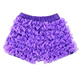 Wennikids Kids Baby Toddler Girls Chiffon Ruffles Shorts Short Pants 1-9T X-Large Purple