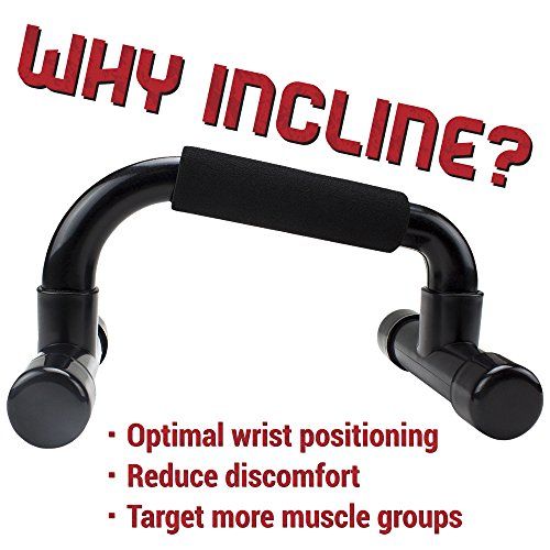 Incline Push up Bar Stands with Foam Comfort Grips by Crown Sporting Goods