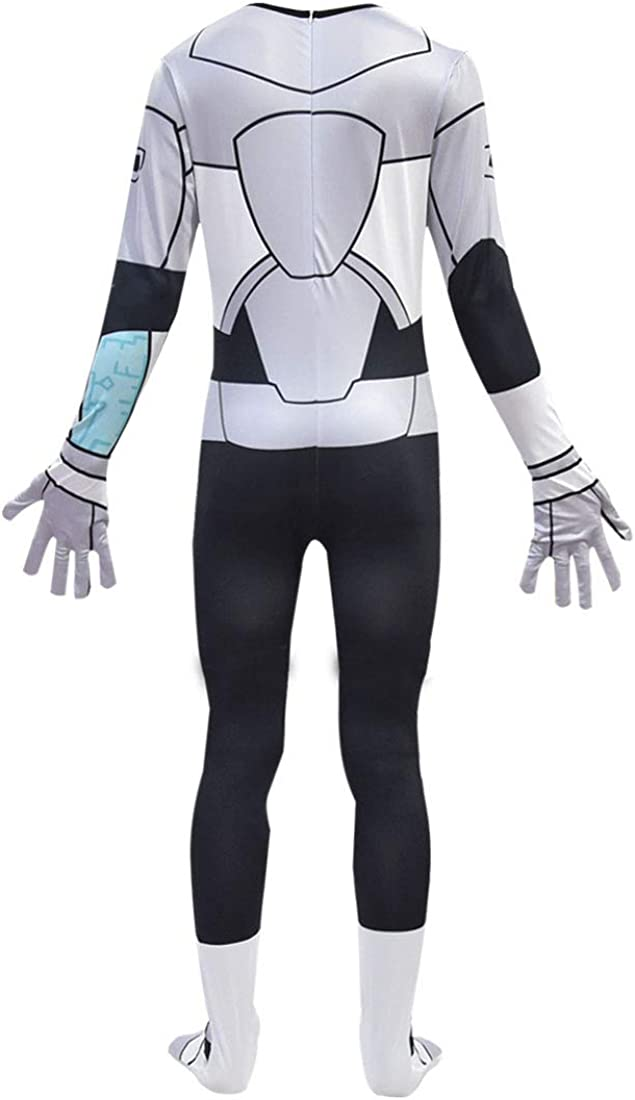 Heariao Boys Teen Titan Cosplay Costume Jumpsuit Halloween Christmas Costumes Outfits