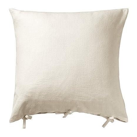 Amazon.com: IKEA URSULA – Funda de cojín, blanco blanqueado ...