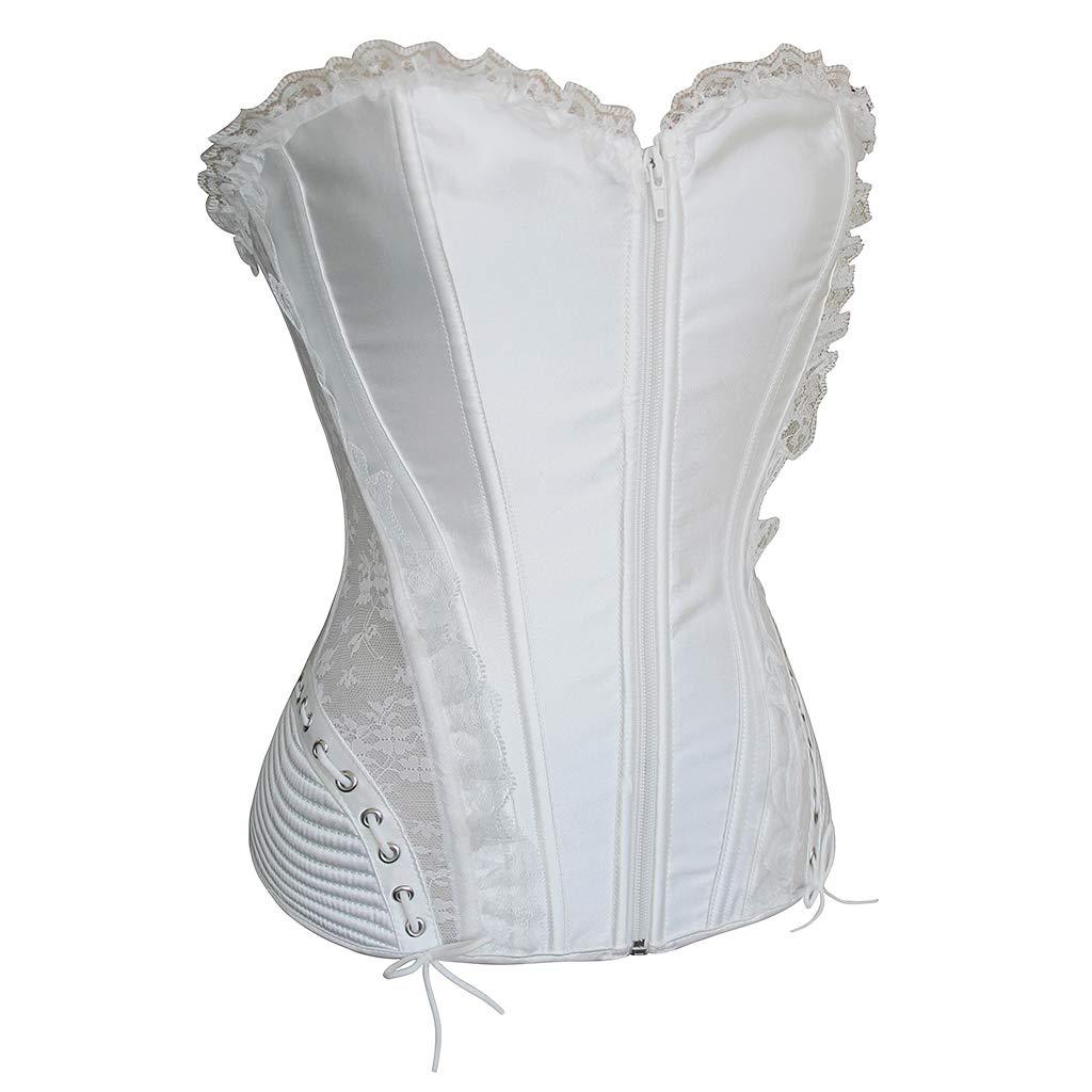 P Prettyia 1 pieza Overbust Corsé Vestir Bustier Burlesque ...