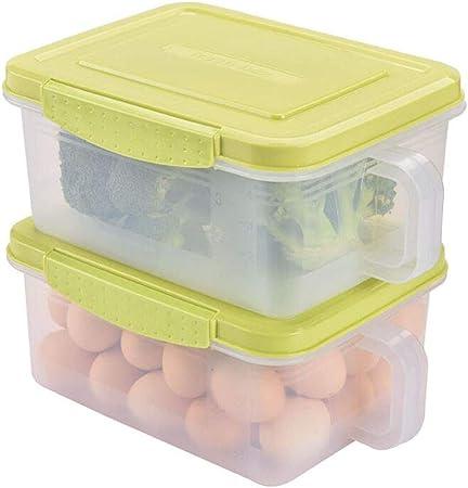LILINPINGCMX Recipientes Caja de Almacenamiento de Alimentos para Cocina Tanque de Almacenamiento de Frutas Plástico con Tapa Sellado Juego de 2 Piezas: Amazon.es: Hogar