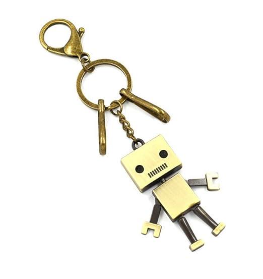 TOPSTORE01 Divertido llavero Robot Divertido Metal Llavero ...