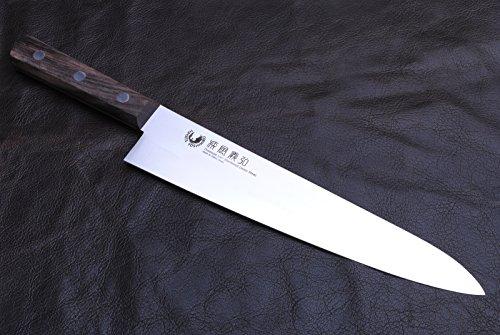 Yoshihiro Powdered Daisu Steel Stainless Gyuto Japanese Chef's Knife 9.5 Inch by Yoshihiro