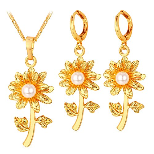 Simulated Statement Earrings Pendant Necklace