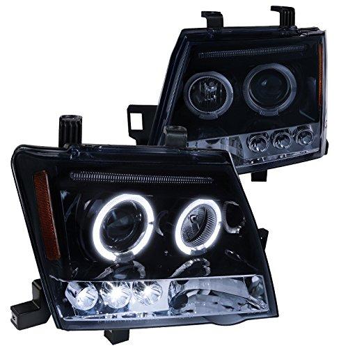 ossy Black Halo Projector Headlights Smoke Lens Head Lamps (Nissan Projector Headlights)