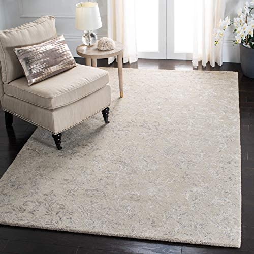 Safavieh Glamour Collection GLM535G Handmade Viscose and Wool Area Rug, 8 x 10 , Grey