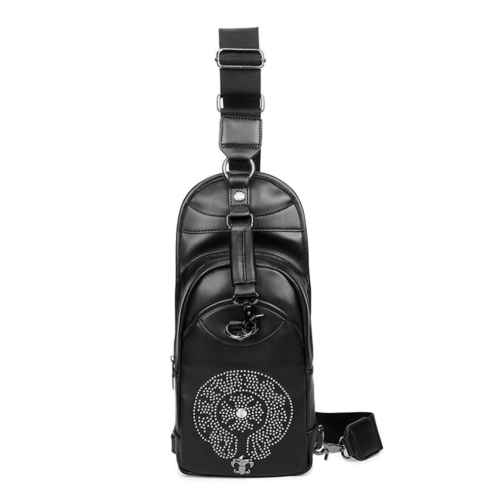 HZJ Teens Girl Casual Mode Sling Bag Nylon Brusttasche, Die Für Das Tragen von iPad Smartphone-Geldbörse und Täglichen Notwendigkeiten Geeignet Ist