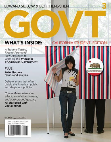 GOVT3, California Edition (with Political Science CourseMate with eBook Printed Access Card)