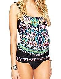0be29d773a3ac Maternity Tankini Set Printed Swimwear Two Pieces Swimsuit Pregnancy Bikini  Bathing Suit