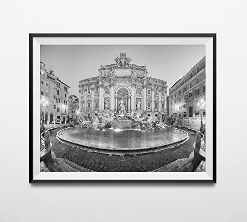 Rome Photography Print, Rome Black And White, Rome Wall Art, Italy Art Print, Trevi Fountain, Travel Photography, Italian Decor, Fontana
