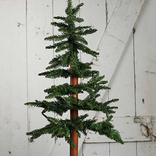 Factory Direct Craft Alpine SKinny Christmas Tree with Metal Base | 3 Feet Tall by Factory Direct Craft