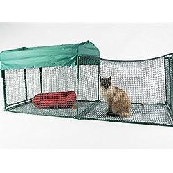 Kritter Kondo Deluxe Outdoor Pet Enclosure, Green/Green, 2' x 2.5' x 6
