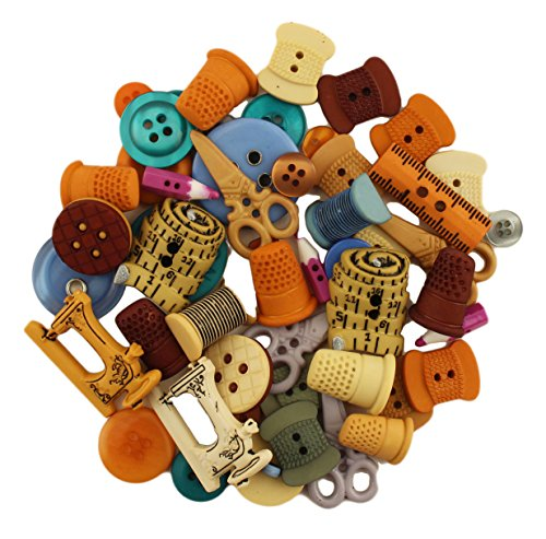 Buttons Galore 50-Value Pack Sewing Button