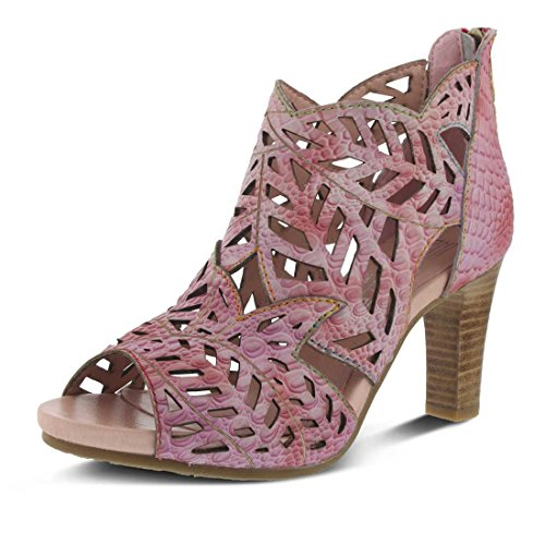 Open Amora Women's Step Pink Toe Spring Bootie by L'Artiste 1wIt7XWqt
