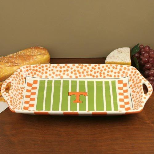 NCAA Tennessee Volunteers Tennessee Orange-White Ceramic Stadium Tray by Football Fanatics