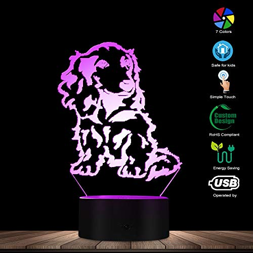 Dachshund Lighting - Dachshund LED Night Light 3D Decorative Lighting Color Changing Acrylic Lamp Gift for Dog Lovers