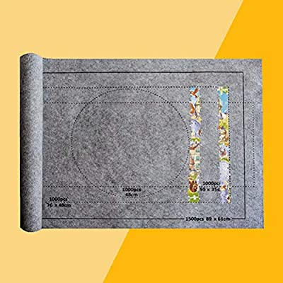Puzzle Roll Up Mat, Felt Jigsaw Puzzle Storage Puzzle Saver Up to 1500 Pieces Game Storage Pad Blanket for Adults Gray: Clothing