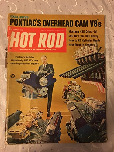 (March 1968 Hot Rod Magazine Pontiac's Overhead Cam V8's Mustang 428 Cobra-Jet)
