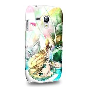 Case88 Premium Designs Sword Art Online SAO Suguha Kirigaya Leafa Protective Snap-on Hard Back Case Cover for Samsung Galaxy S3 mini