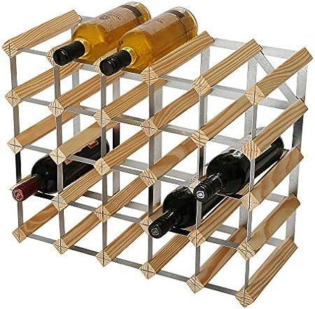 Orificios para botellas de 5 x 4. El almacenamiento de 25 botellas incluye el uso de la fila superio