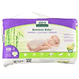 Aleva Naturals Bamboo Baby Diapers, Size Newborn-1, (4-9 lbs / 2-4 kgs) 32 Count