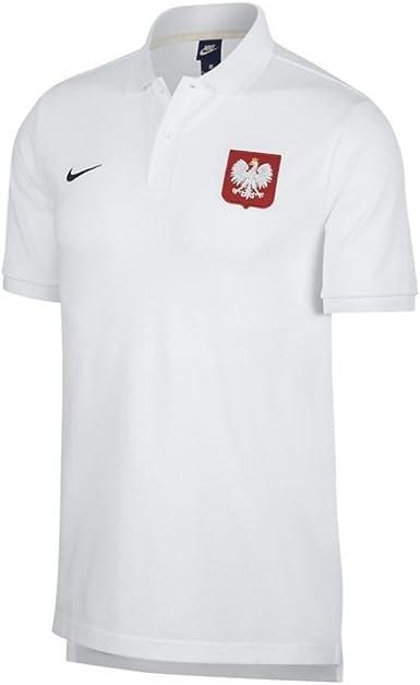 Nike 2018-2019 Poland Core Pique Polo Shirt (White)