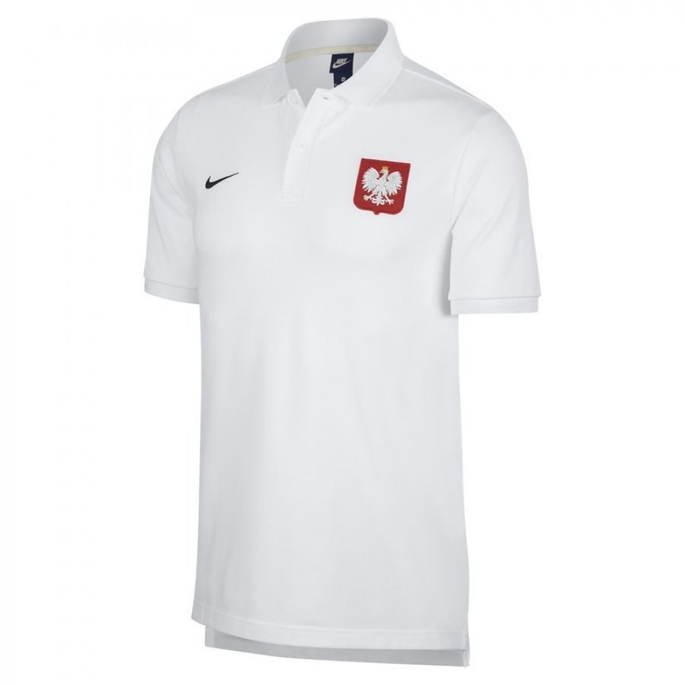 2018-2019 Poland Nike Core Pique Polo Shirt (White) B07C4RXYJPWhite Small 34-36\
