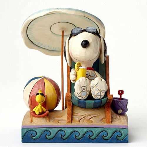 """Peanuts by Jim Shore Snoopy and Woodstock Campfire Stone Resin Figurine, 6"""" -"""