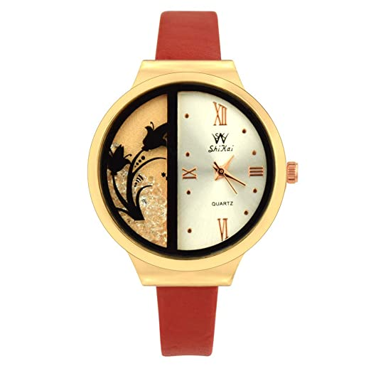 Kanpola SHIKAI Correa de Cuero para Mujer Regalo Creativo Reloj de Cuarzo ZYBSK-66 Colección Lady: Amazon.es: Relojes