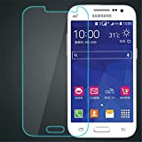 V CAN Premium Full Screen Coverage Screen Protector Tempered Glass 3D Anti-Fingerprint 0.33 mm HD+ View Crystal Clear Tempered Glass for Samsung Galaxy Core Prime SM-G360 - (Transparent)