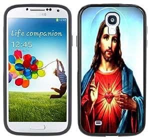 Jesus Christ Sacred Heart Handmade Samsung Galaxy S4 Black Bumper Hard Plastic Case
